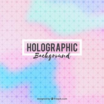 선과 점이있는 홀로그램 배경