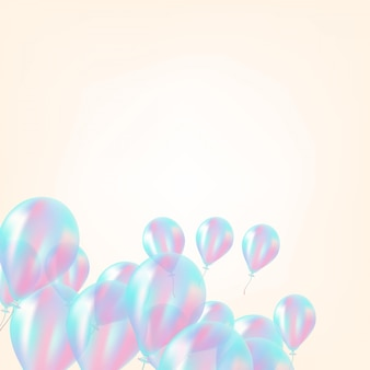 Holographic balloon background