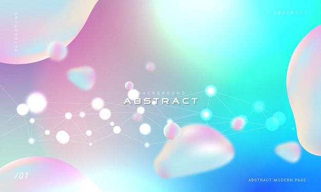Holographic bubble background with bokeh light