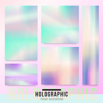 Holographic card background