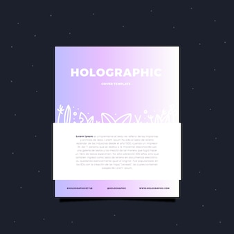 Holographic card template