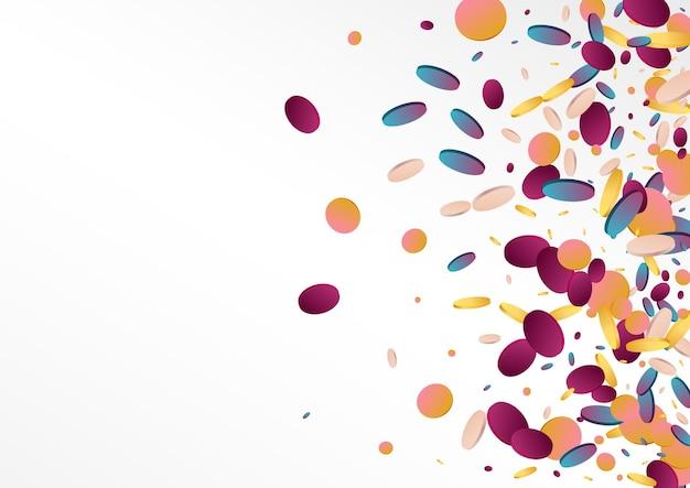 Holographic celebrate confetti. invitation background Premium Vector