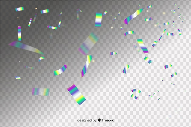 Holographic confetti effect background