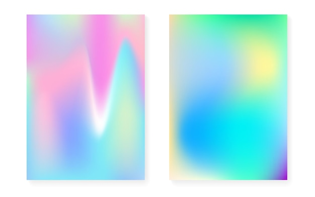 Holographic cover set with hologram gradient background
