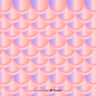 Holographic duotone mermaid tail background