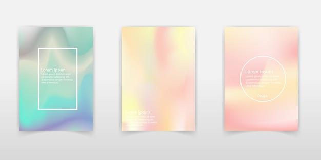 Holographic foil backgrounds set.