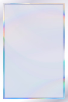 Holographic frame template