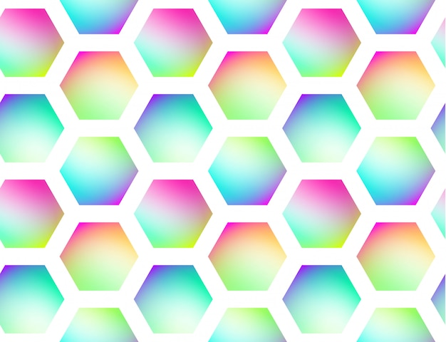 Holographic geometric vector seamless background
