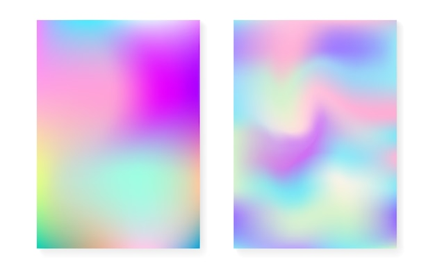 Holographic gradient background set with hologram cover.