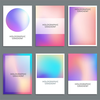 Holographic gradient background set with hologram cover