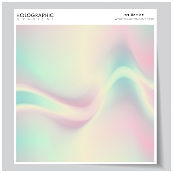 Holographic gradient background