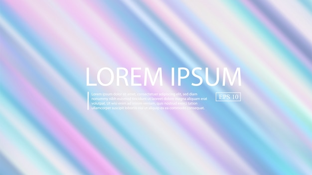 Holographic gradient mesh vector background. pastel rainbow texture.