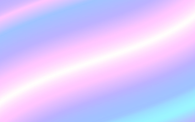 Holographic gradient mesh vector background. pastel rainbow texture