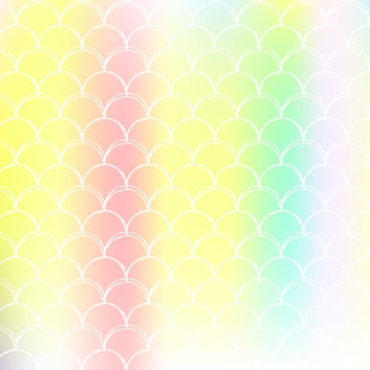 Holographic mermaid background with gradient scales