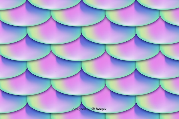 Holographic mermaid tail background