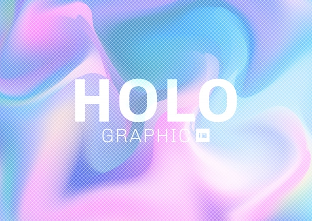 Holographic pastel colors background