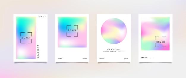 Набор голографических плакатов, подходящий для фона, плаката, обоев, экрана мобильного телефона, баннера и других
