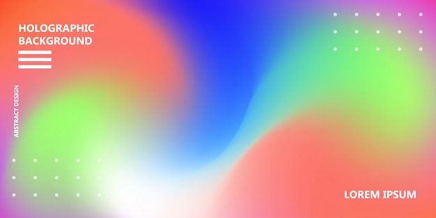 Holographic rainbow background vector iridescent texture