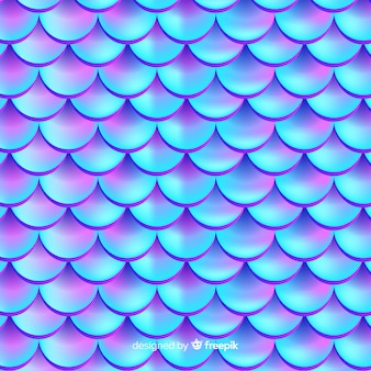 Holographic realistic mermaid tale background