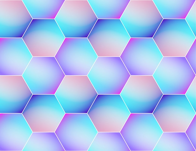 Holographic vector seamless background