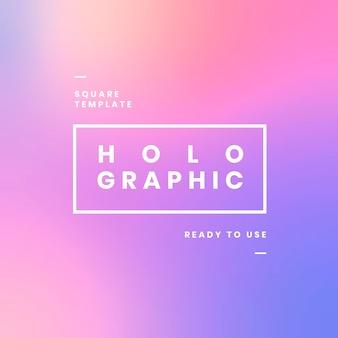 Holographic website banner design