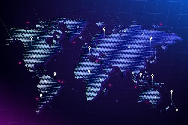 Holographic world map
