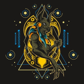 Holy anubis sacred geometry