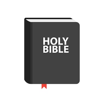 Holy bible book icon. flat