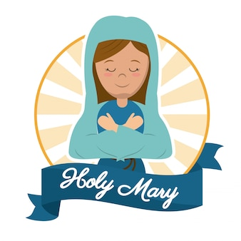 Holy mary preach glory catholic image