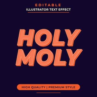 Holy moly оранжевый текстовый эффект макет