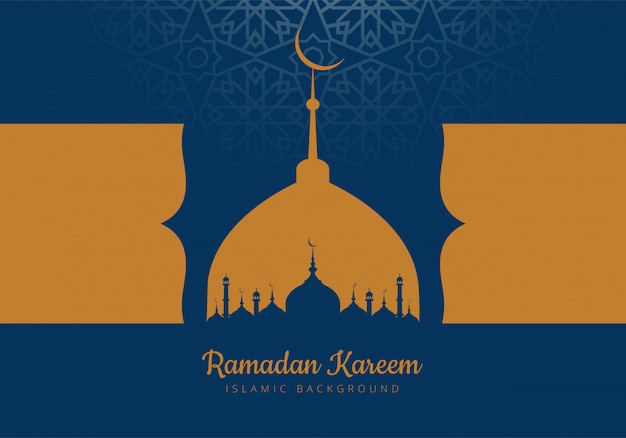 Mese santo di ramadan kareem card background