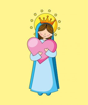 Holy virgin mary cartoon