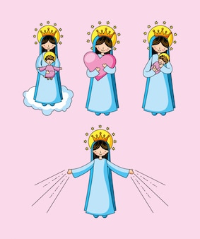 Holy virgin mary cartoon