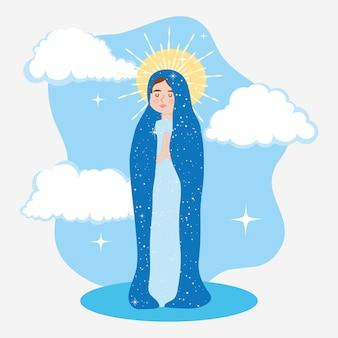 聖なる処女メアリーイラストデザイン