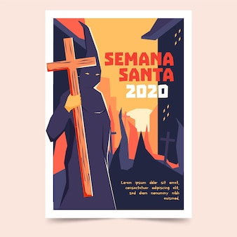 Holy week poster design