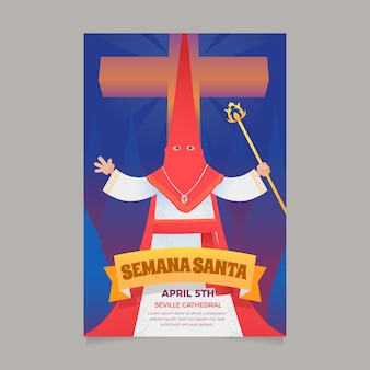 Holy week poster template design