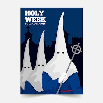 Holy week poster template