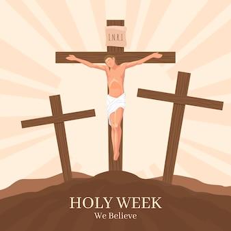 Concetto religioso della settimana santa