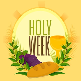 Holy week with wine and bread