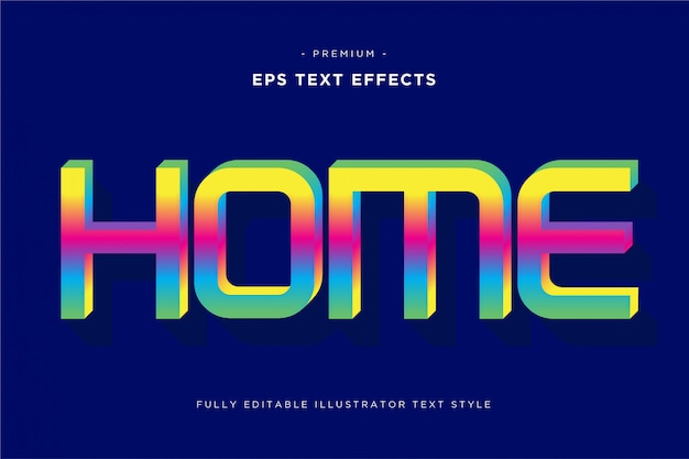 Home 3d text effect