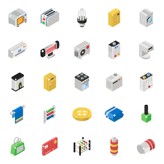 Home appliance isometric vectors pack
