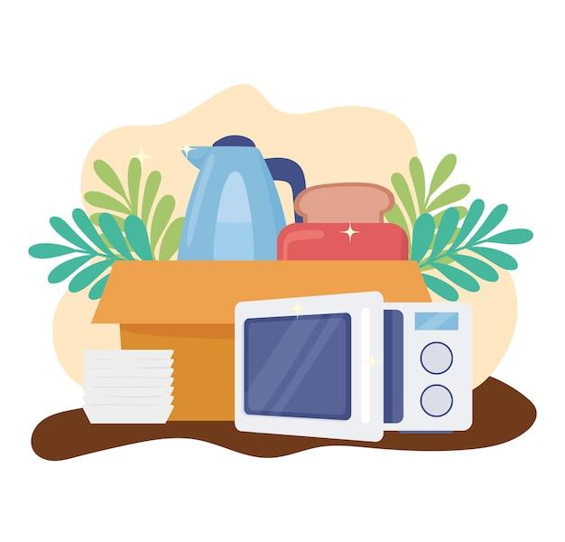 Home appliances cartoon