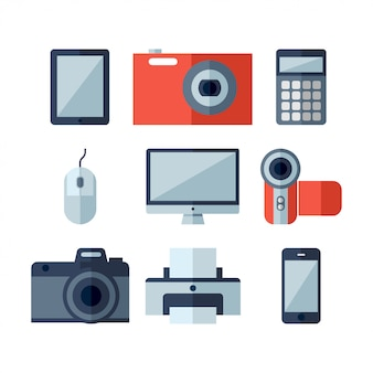 Home appliances flat icons