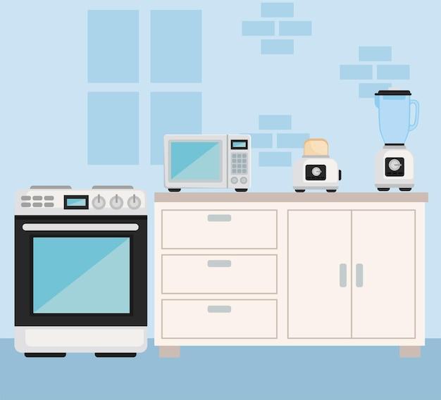 キッチンの家電