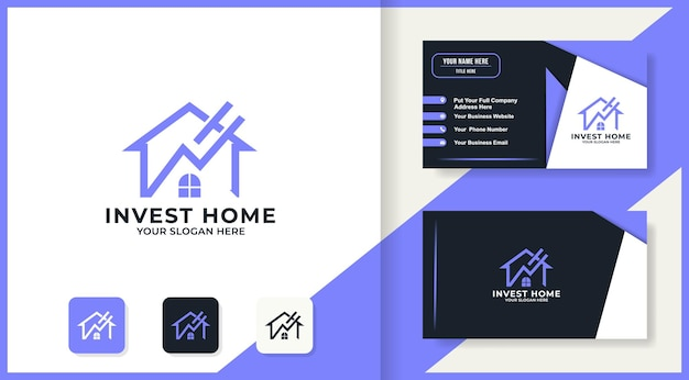 홈 화살표 로고 디자인 및 명함