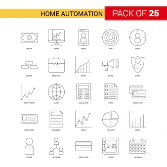 Home automation black line icon