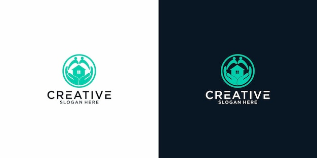 Home care logo graphic design for other use is perfect