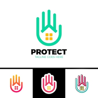 Home care, service logo template