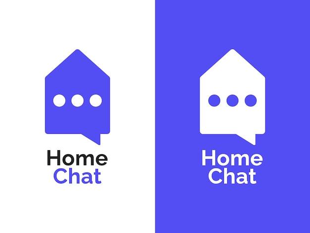 홈 채팅 로고 디자인 컨셉