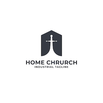 Home and chrurch logo premium
